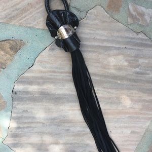 Leather flogger, w/solid handle